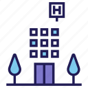 ambulance, building, emergency, healthcare, hospital, hospitalization, medical icon