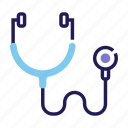 doctor, equipment, heart, hospital, medical, pulse, stethoscope icon