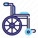 disabled, handicap, health, hospital, medical, patient, wheelchair icon
