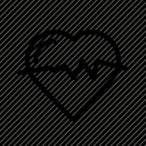 cardiology, health, heart, heartbeat, medical icon