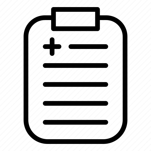 health, medical, note icon