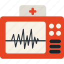 ecg, ecg machine, ecg monitor, electrocardiogram, heartbeat, pulsation, lifeline