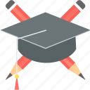 achievement, degree, education, graduate, graduation, hat, success icon