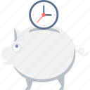 duration, money, save, savings, schedule, time icon
