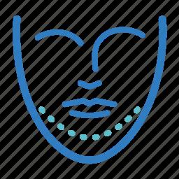 augmentation, chin, chin advancement, cosmetic, double chin, mandibular angle reduction, surgery icon