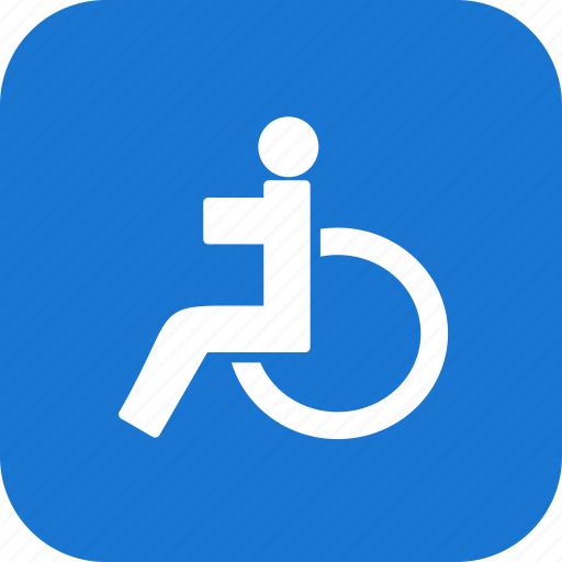 care, disable, handicap, handicapped, healthcare, patient, wheelchair icon