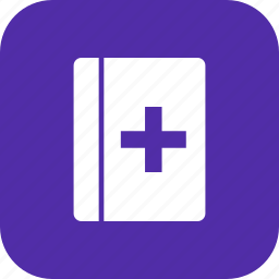 book, healthcare, medical book, medical education icon