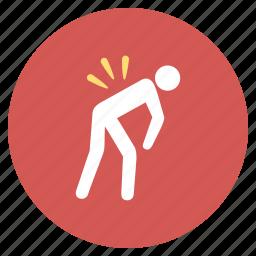 ache, back, backache, injury, pain, sciatica, spine icon