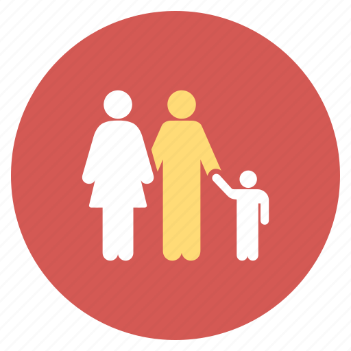 human family, man, parents, people, user group, users, woman icon
