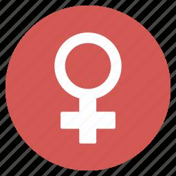 female symbol, girl, lady, sex, venus, woman, women icon
