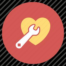 aid, cardio, heart, love, repair, service, surgery icon