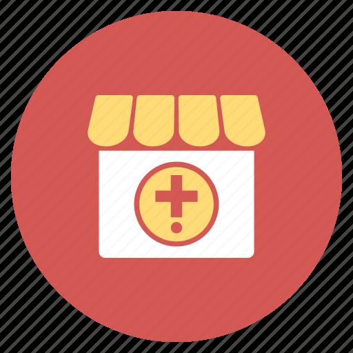 ambulance, apothecary, clinic, drug shop, drugstore, hospital, medical store icon