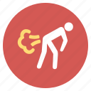 diarrhea, diarrhoea, fart, funny, gas, gases, winds icon