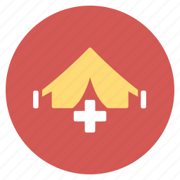 ambulance, emergency, field hospital, medic camp, medical tent, medicine, military clinic icon