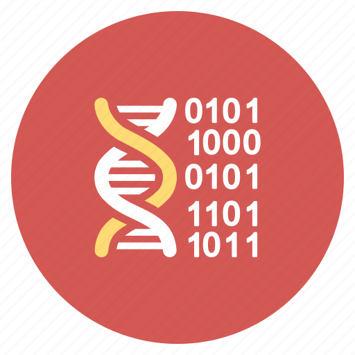 binary, biology, chemistry, genome code, medicine, science, technology icon