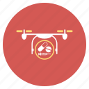 ambulance, drone, emergency, medical, medication, quadcopter, shipment icon