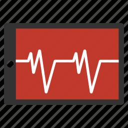 analytics, cardiogram, chart, ekg, heartbeat, medical graph, pulse icon