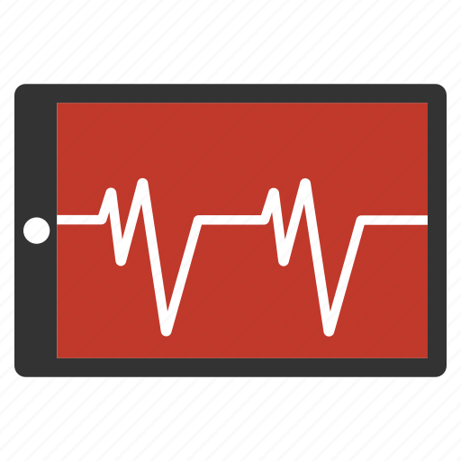 analytics, cardiogram, chart, ekg, heartbeat, medical graph, pulse icon