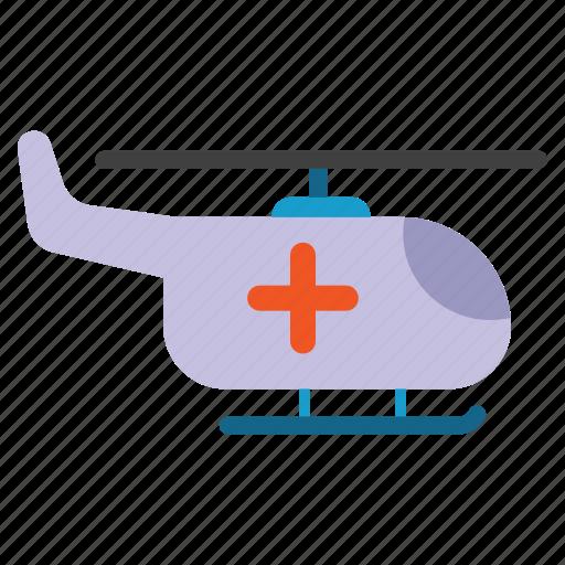 ambulance, copter, emergency, helicopter, medevac, medical, medical transport icon