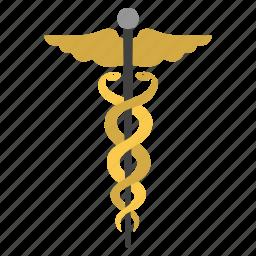 caduceus, clinic, health, healthcare, medic, medical embleme, medicine icon