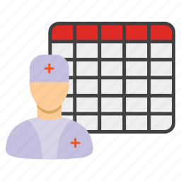 calendar, doctor appointment, duty, medical, schedule, time table, timetable icon
