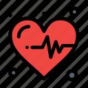 heart, heartbeat, medical icon