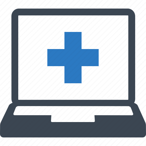 ehealth, healthcare, online doctor, online medical help icon
