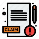 claim, medical, report icon
