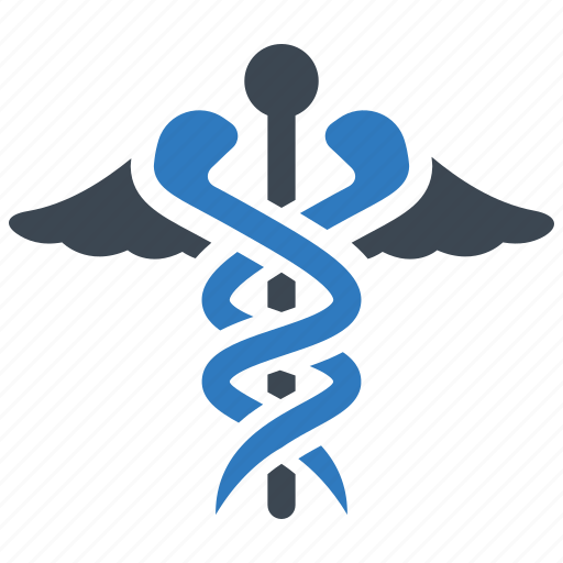 caduceus, healthcare, snake icon