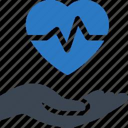 heart care, heart disease, heart health icon