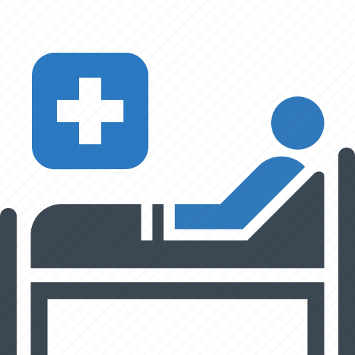 hospital bed, medical care, medical treatment icon