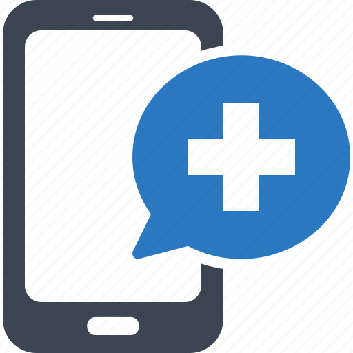 medical question, mobile health, online medical services icon