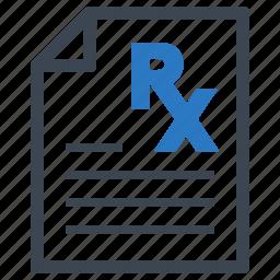 medical file, medical treatment, prescription icon
