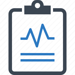 cardiogram, heart health, medical test icon