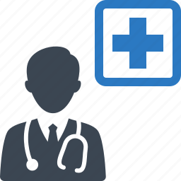 doctor, first aid, medical help, stethoscope icon