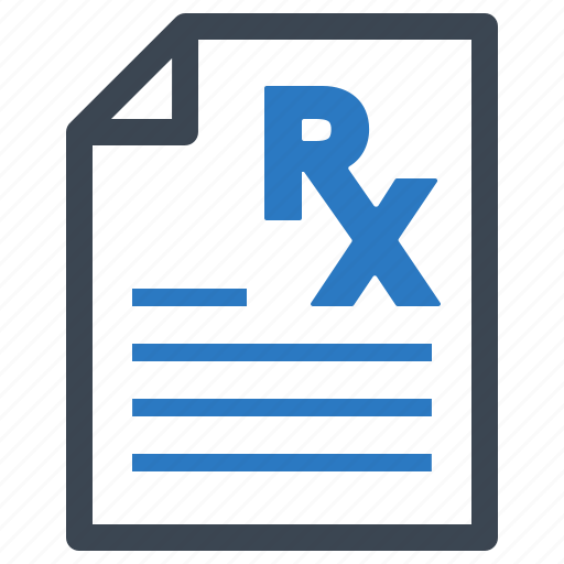 medical file, pharmacy, prescription, treatment icon