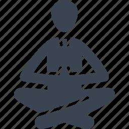 meditating, meditation, yoga icon
