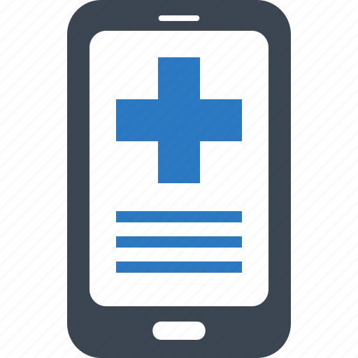 medical question, mobile health, online medical help icon