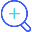 25px, glass, iconspace, magnify icon