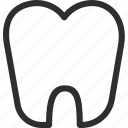 25px, iconspace, tooth icon