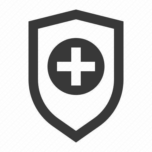 cross, emblem, guard, hospital, medical, protect icon