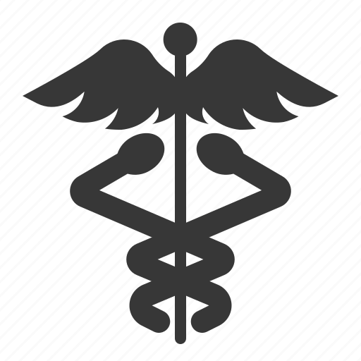 alchemy, caduceus, medical, serpent, snake, staff, wing icon