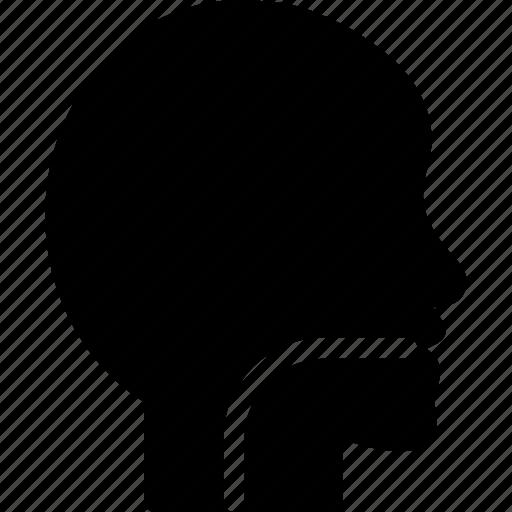 food drain, human, male head, mouth icon