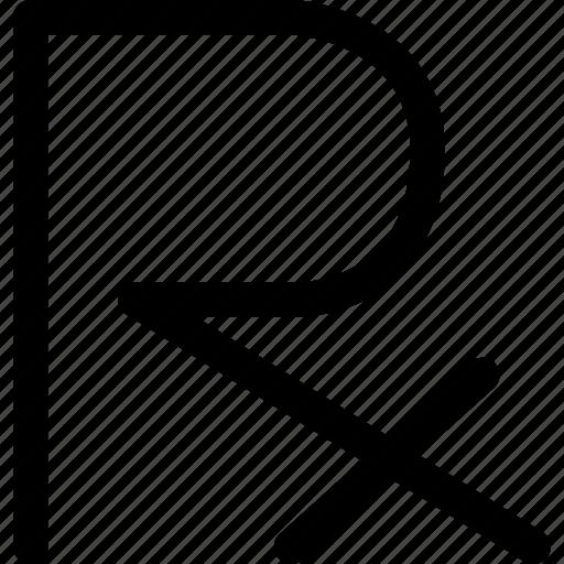 formula, healthcare, medical, prescription, receipt, rx icon