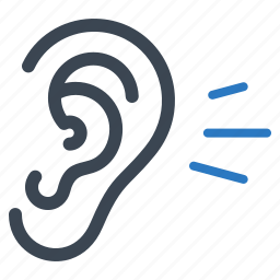 ear, healthcare, hear, hearing icon