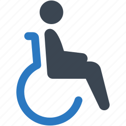 disability, disabled, healthcare, wheelchair icon