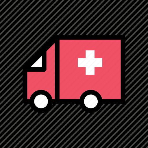 ambulance, emergency, health, healthcare, hospital, medical, sign icon