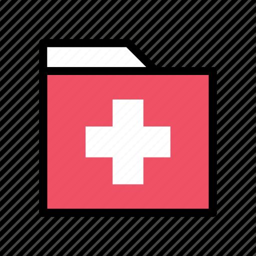Folder, health, medical, sign, healthcare, healthy, hospital icon - Download on Iconfinder