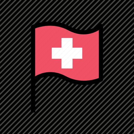 flag, health, healthcare, healthy, hospital, medical, pin icon