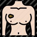 awareness, breast, cancer, illness, medicine, tumor, woman icon